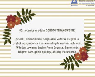 80 rocznica urodzin Doroty Terakowskiej