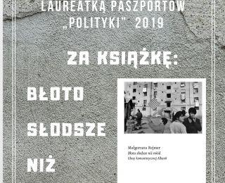 """Paszport """"Polityki"""" 2019 w kategorii """"literatura"""" zdobyła Małgorzata Rejmer"""