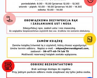 Zmiany w funkcjonowaniu biblioteki od 13 marca