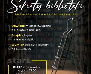 """Premiera mobilnej gry miejskiej """"Sekrety biblioteki"""""""