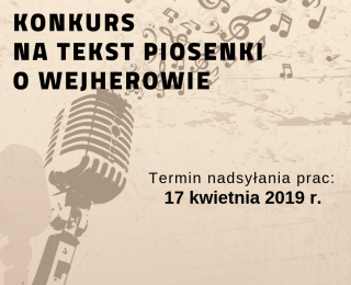 Konkurs na piosenkę o Wejherowie