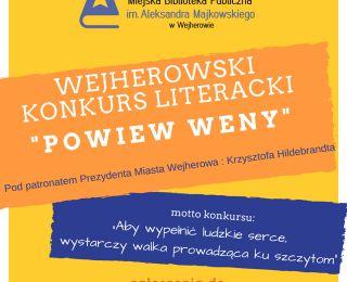 """XII edycja Wejherowskiego Konkursu Literackiego """"Powiew Weny"""""""